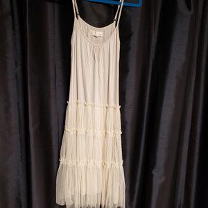 A'reve small cream w/sheer nylon accent dress